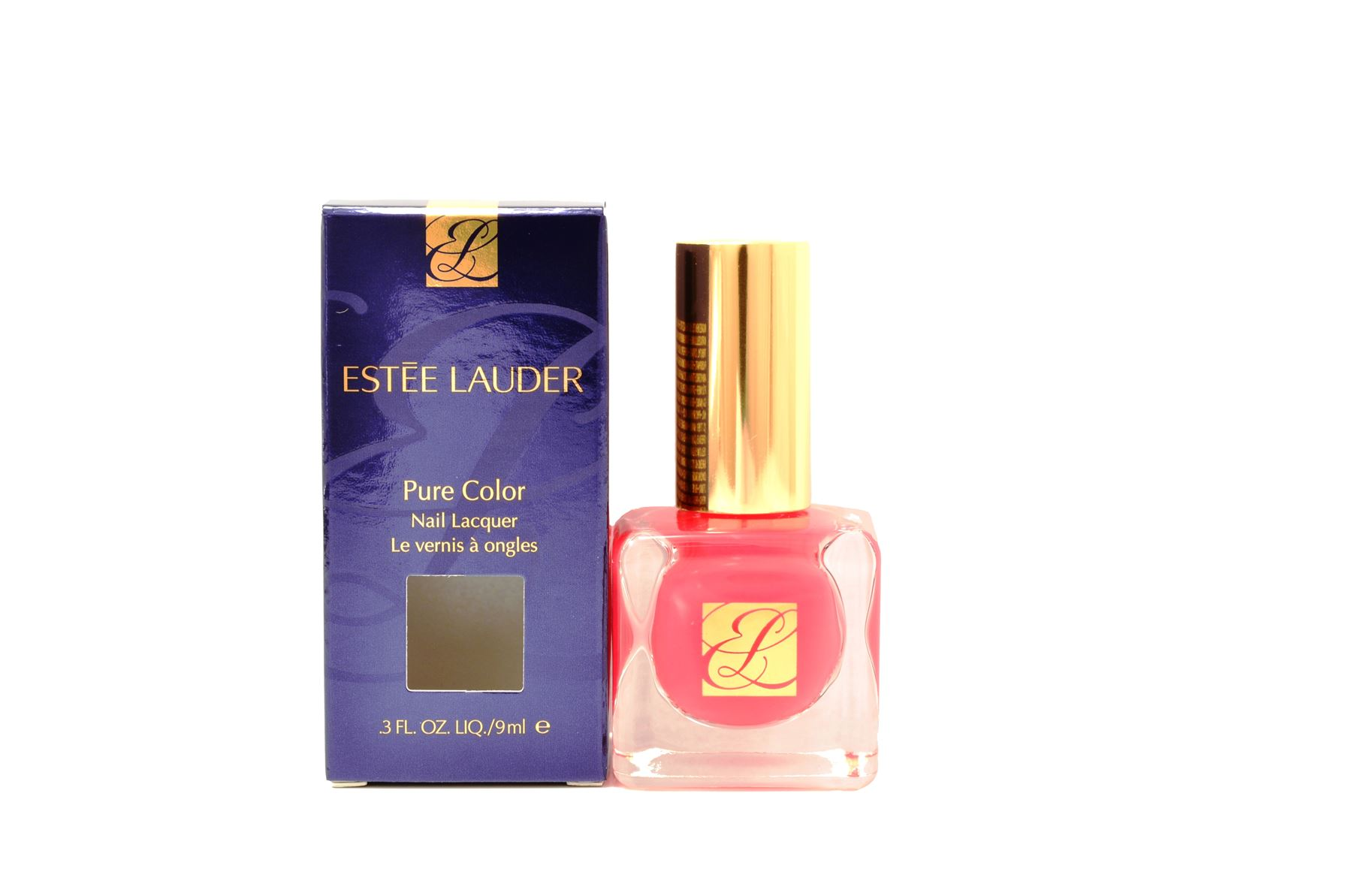 Estee Lauder Pure Color Nail Lacquer 9ml - 10 Hot Coral 27131768395 ...