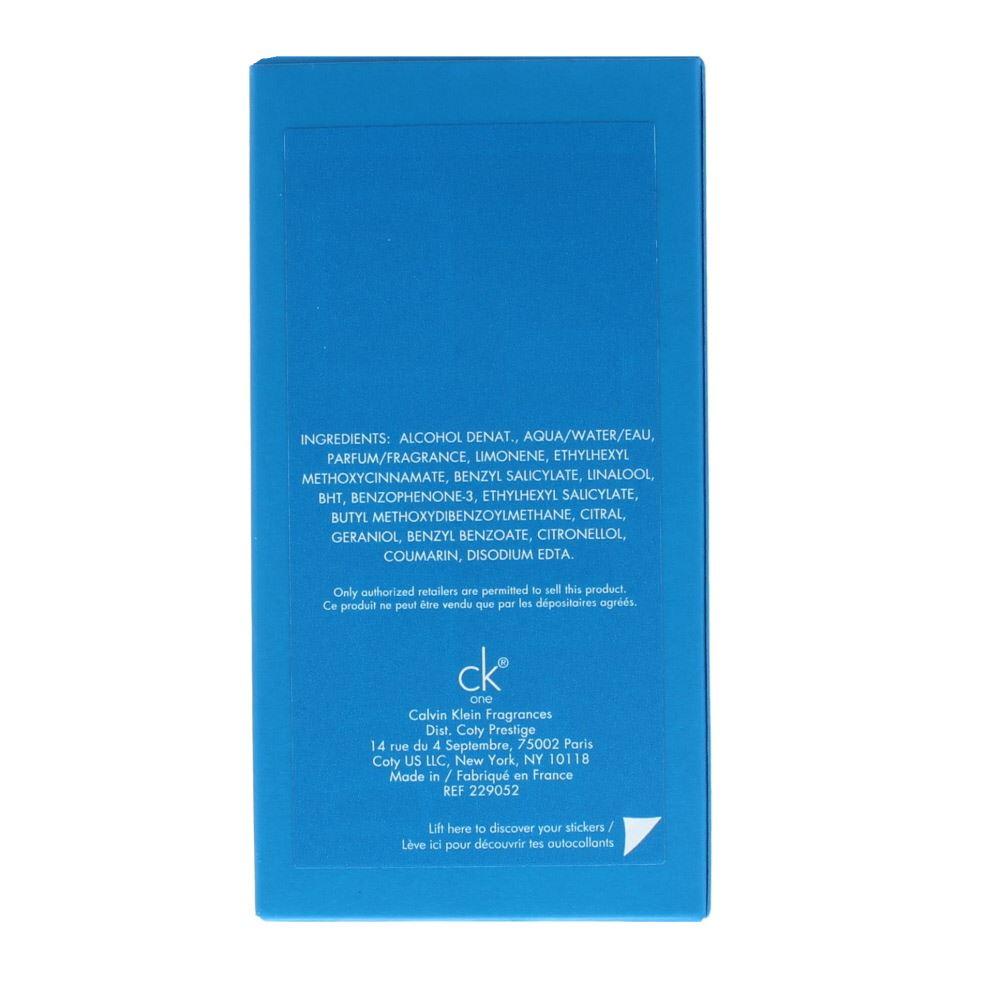 Calvin Klein Ck One Summer Eau De Toilette 100ml Spray Unisex Edt