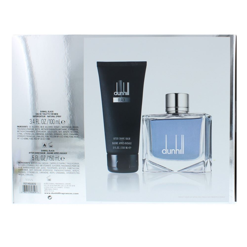 Dunhill Black Eau De Toilette 100ml Aftershave Balm 150ml Gift Set Desire Silver M Edt 100 Ml Design House Launched In 2008 As A Woody Aromatic Fragrance For Men The Scent Features Fragrant Fusion Of Soothing Lavender