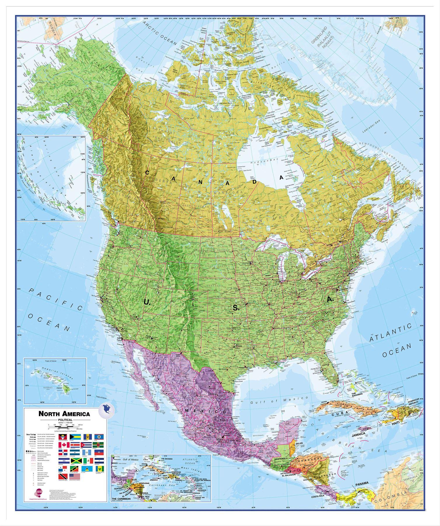 Größe Amerika
