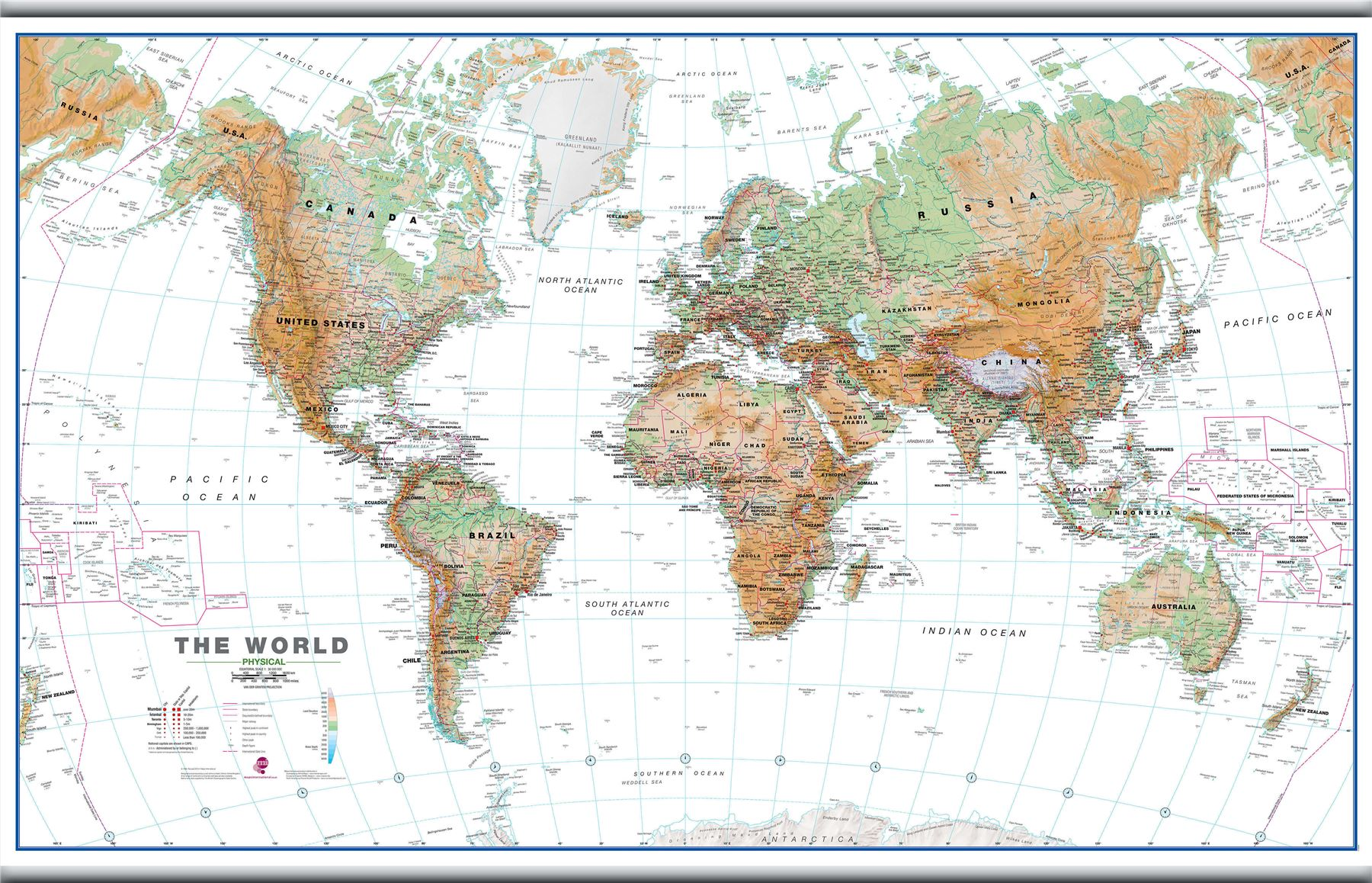 World wall map physical white ocean poster for office with size world wall map physical white ocean poster for gumiabroncs Image collections