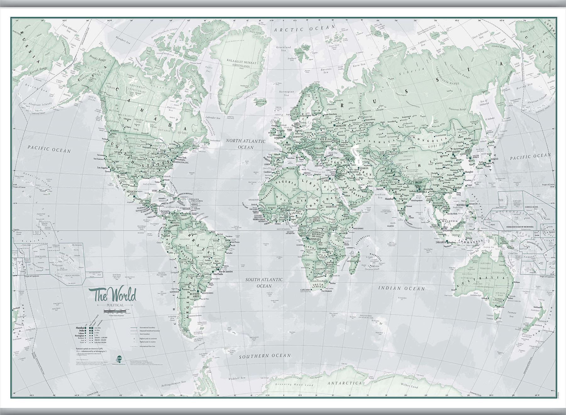 The world is art wall map rustic poster for office with size the world is art wall map rustic poster gumiabroncs Images