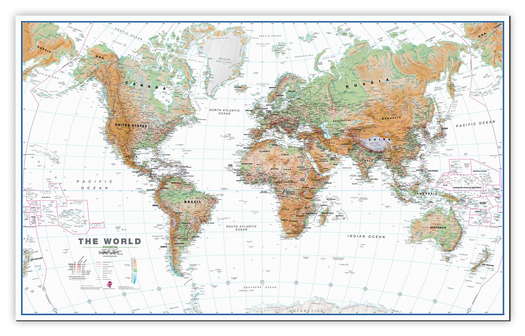 World wall map physical white ocean poster for office with size world wall map physical white ocean poster for gumiabroncs Images
