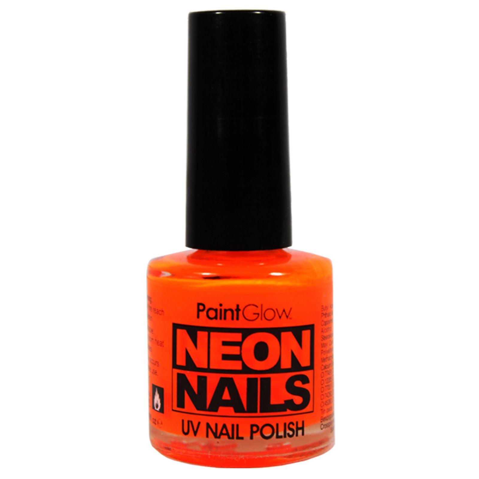 Fluorescent Neon Nail Polish: Paintglow UV Nail Polish Fluorescent Neon Glow Bright Nail