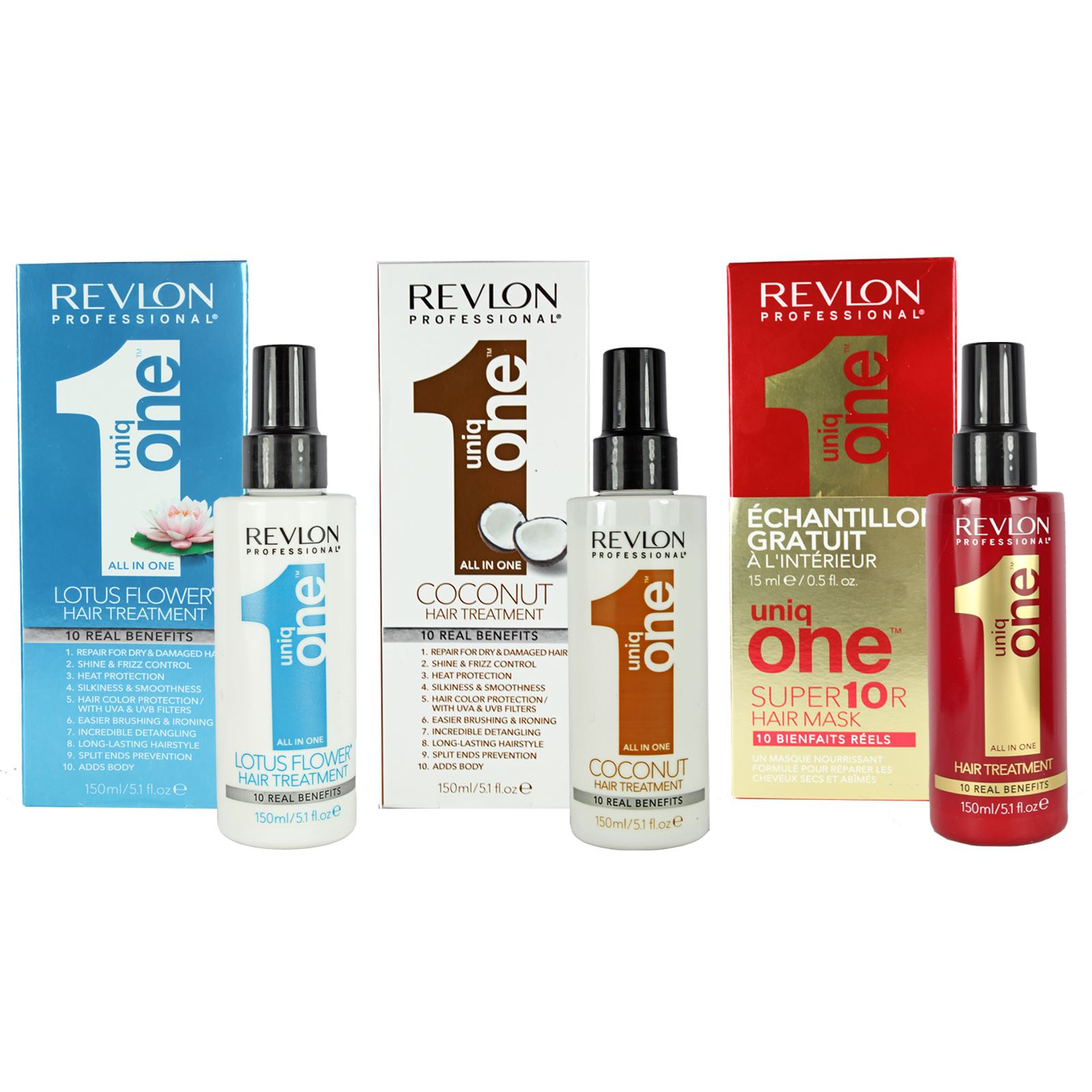 revlon uniq one leave in hair repair treatment spray dry damaged hair coconut ebay. Black Bedroom Furniture Sets. Home Design Ideas