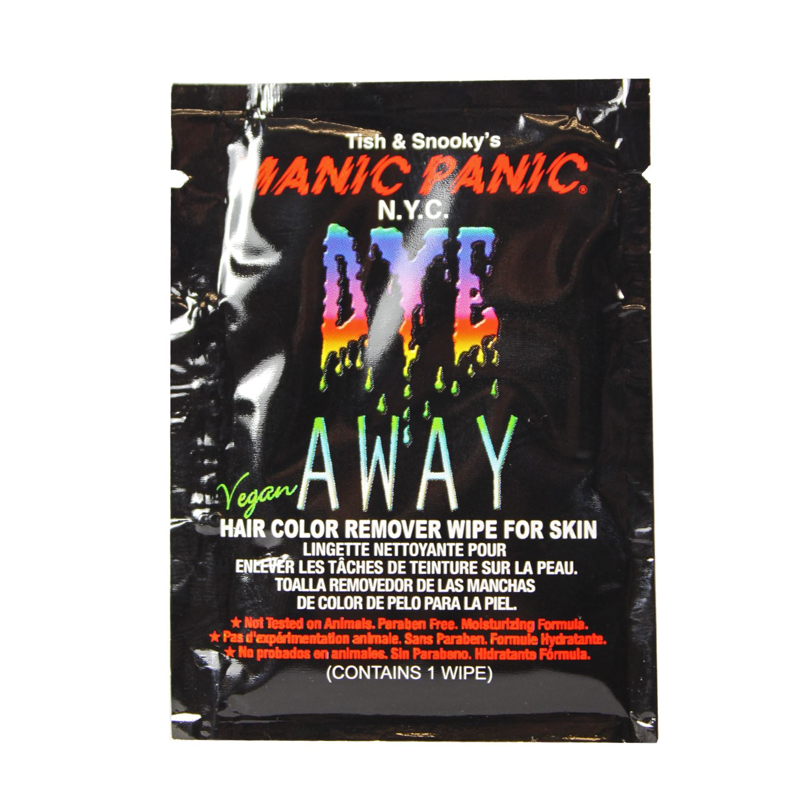 Manic Panic Hair Dye Remover Wipe Remove Hair Colour From Skin Ebay