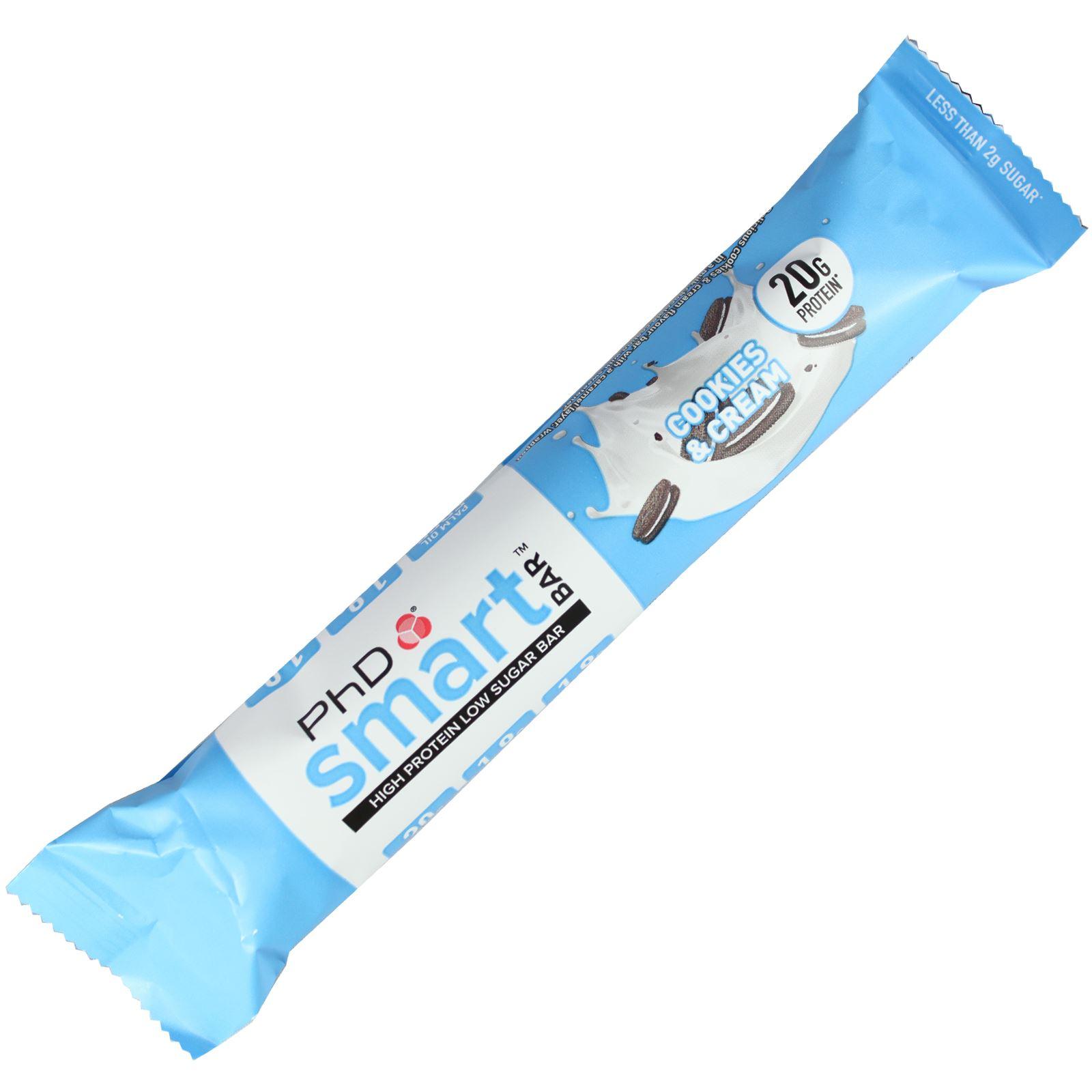 PHD-Nutrition-Box-of-12-Smart-Bar-High-Protein-Low-Sugar-Individual-amp-Mixed-Box thumbnail 12