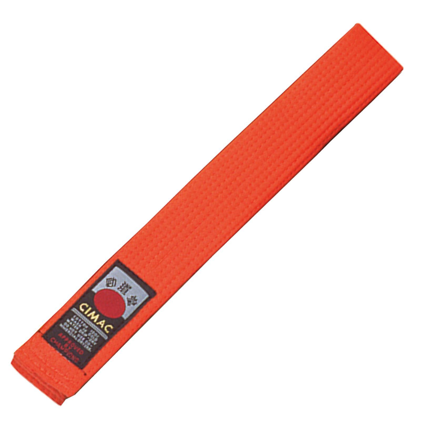 Cimac-Judo-Karate-Taekwondo-Plain-Coloured-Martial-Arts-Belt-UniformVarious-Size thumbnail 16