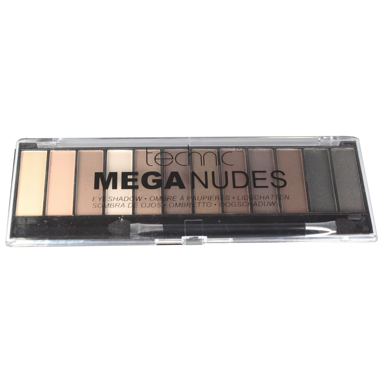 Technic-Mega-Nude-Eyeshadow-Palette-Matte-Shimmer-Pink-Bronze-Gold-Brown-Shadow