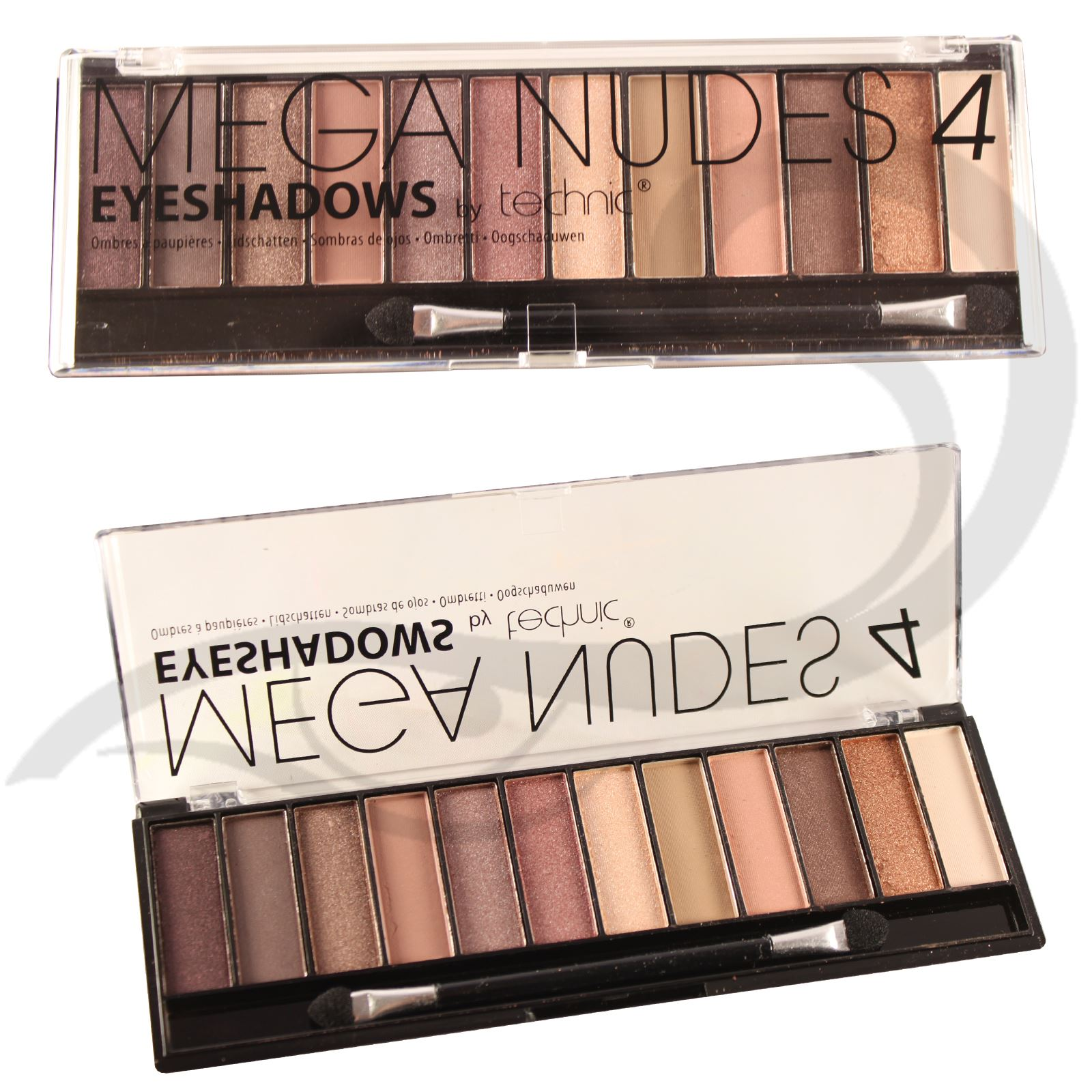 technic eyeshadow mega nude matte sultry palette 12 shade colour natural shadow ebay. Black Bedroom Furniture Sets. Home Design Ideas