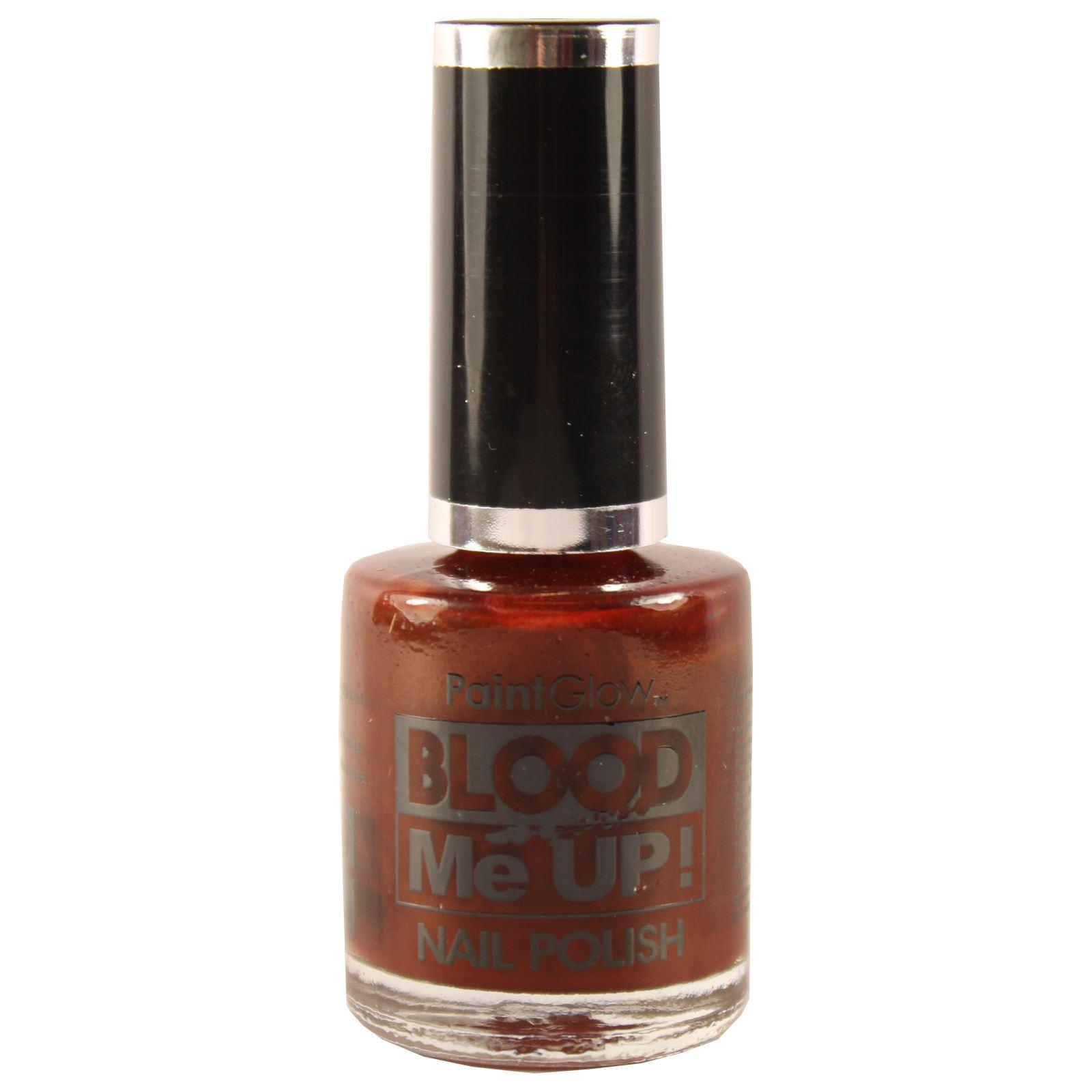 Dark Red Nail Polish PaintGlow Blood Me Up Varnish Once Coat Hard ...