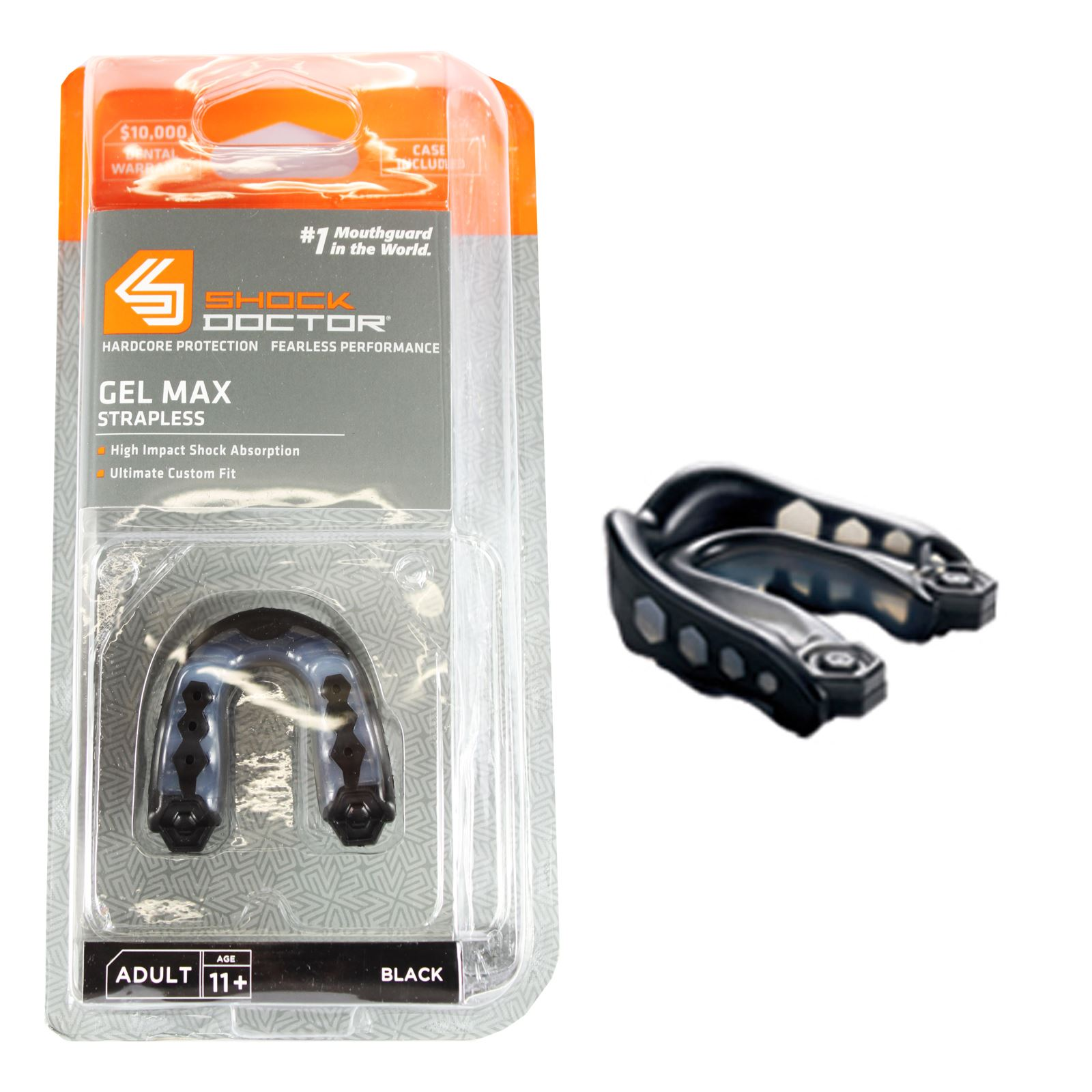 Shock-Doctor-Gel-Max-v2-Gum-Shield-Mouth-Guard-Adult-amp-Youth-Boxing-Rugby-MMA miniatuur 3