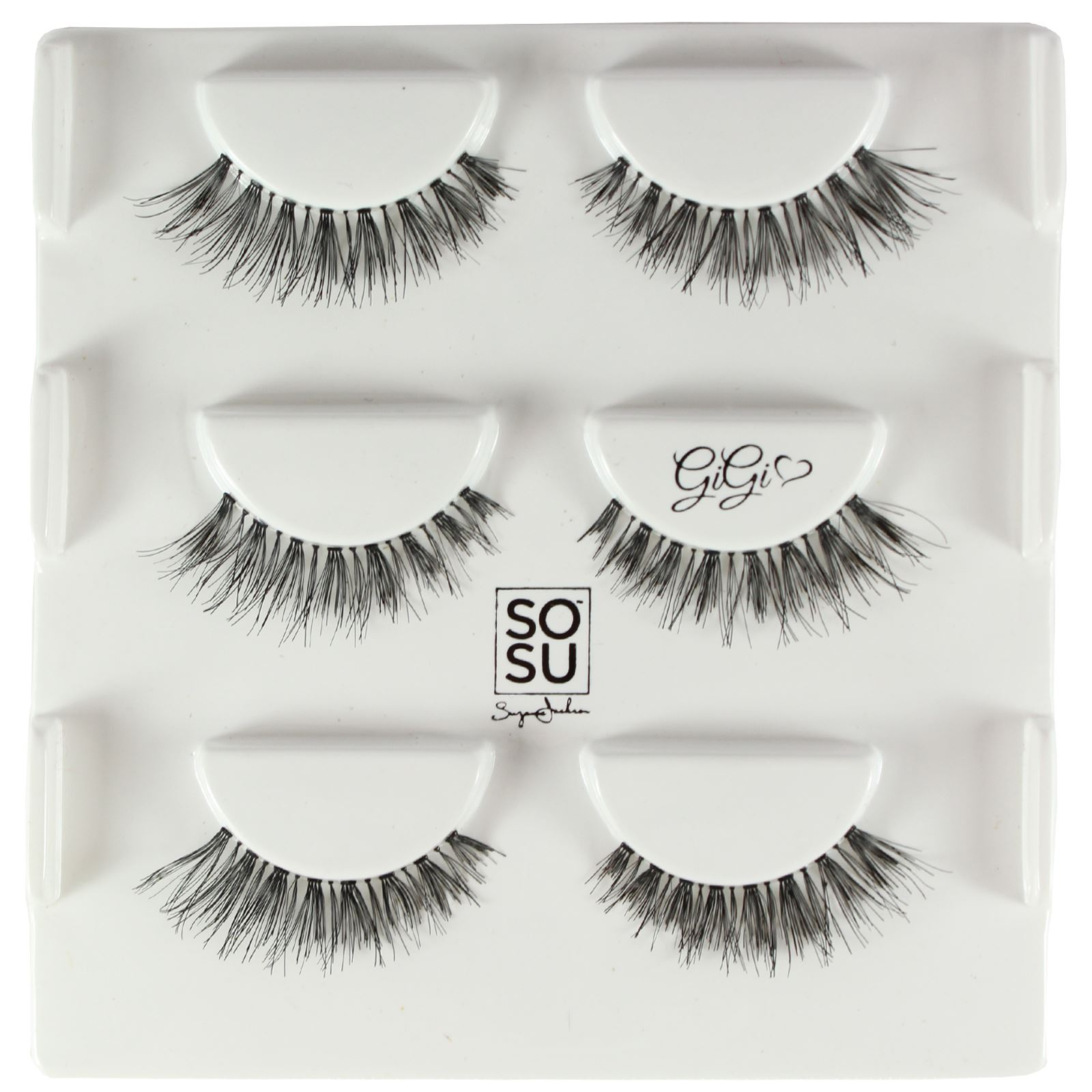 9265ca250f9 SOSU By SJ Premium Lashes 3 PACK False Eyelashes Strip MUA Multipack ...