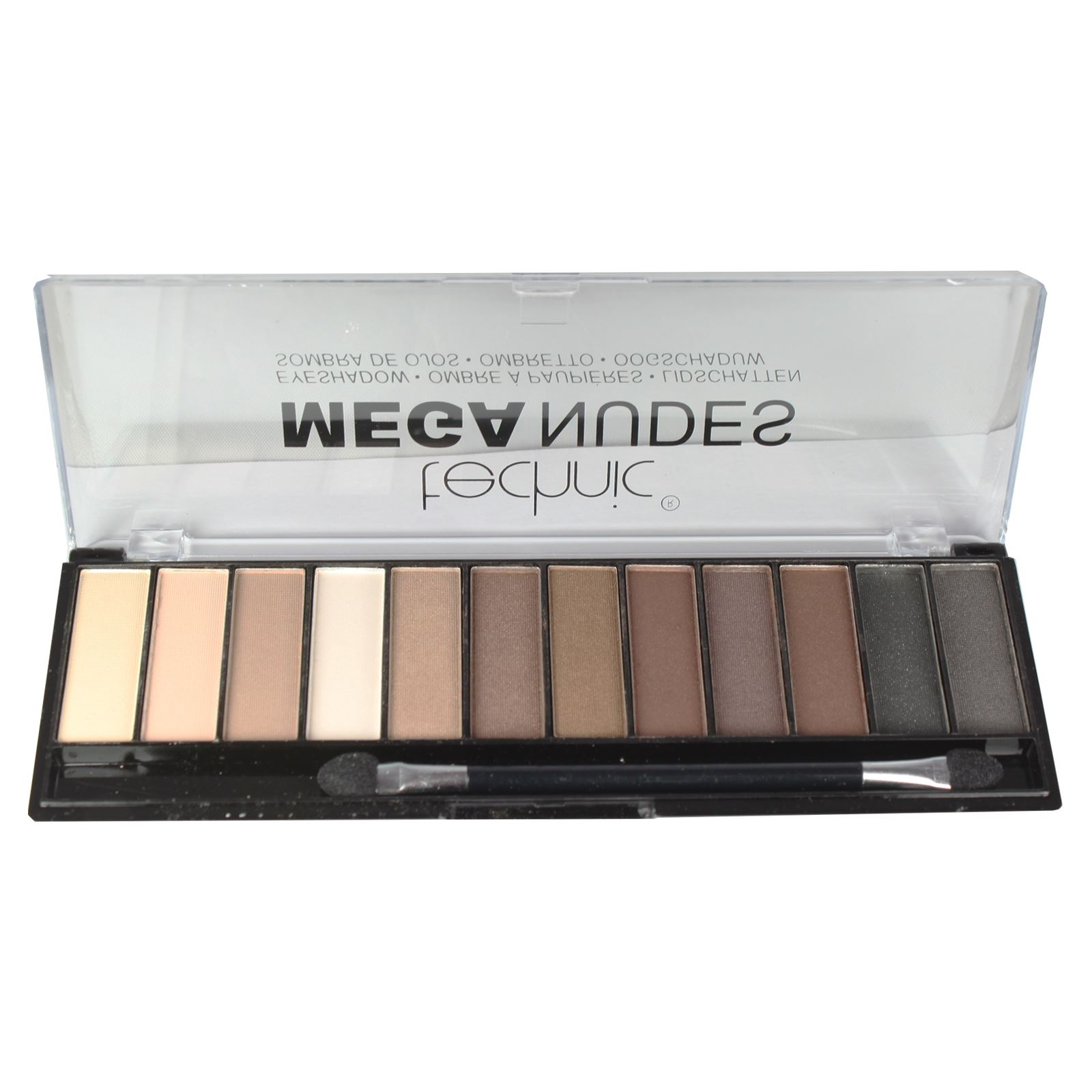 Technic-Mega-Nude-Eyeshadow-Palette-Matte-Shimmer-Pink-Bronze-Gold-Brown-Shadow