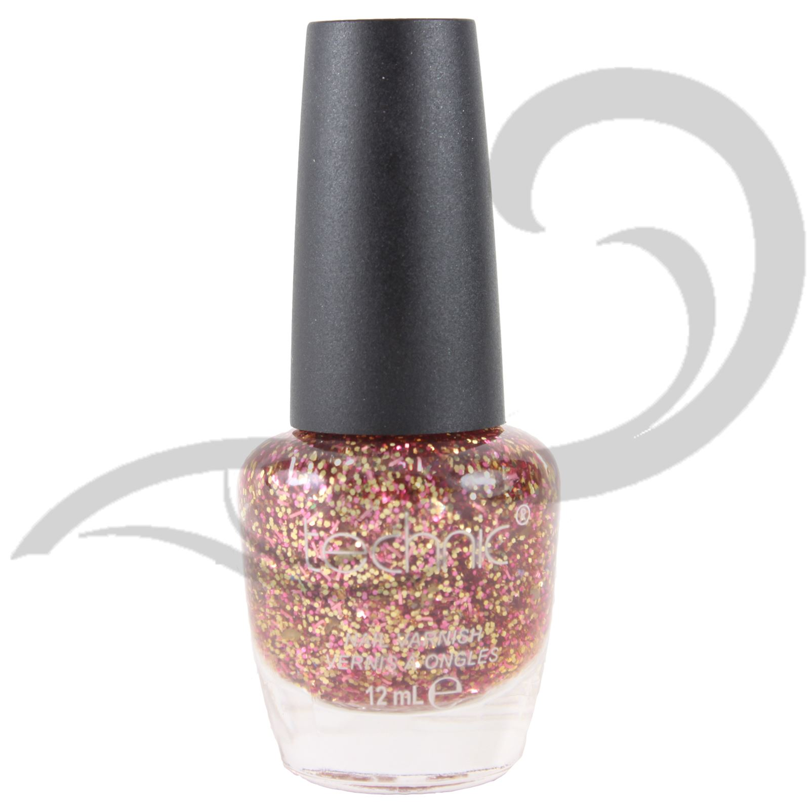 Shimmer And Sparkle Nail Polish: Technic Glitter Nail Varnish All Colour Glitter Chunky