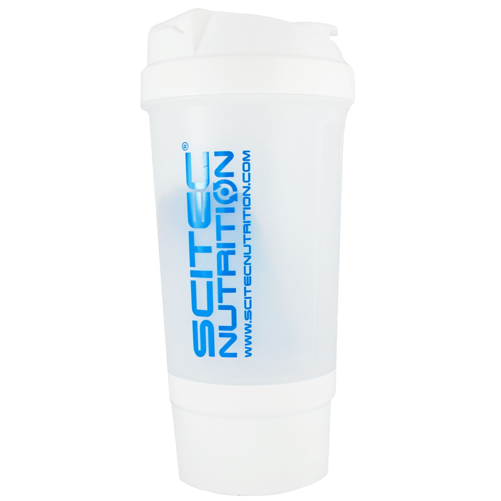 scitec nutrition protein shaker bottle 500ml shake mixer cup with compartment ebay. Black Bedroom Furniture Sets. Home Design Ideas