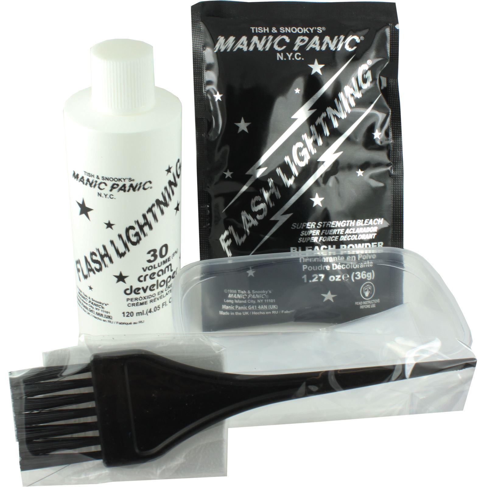 manic panic amplified flash lightening home hair dye