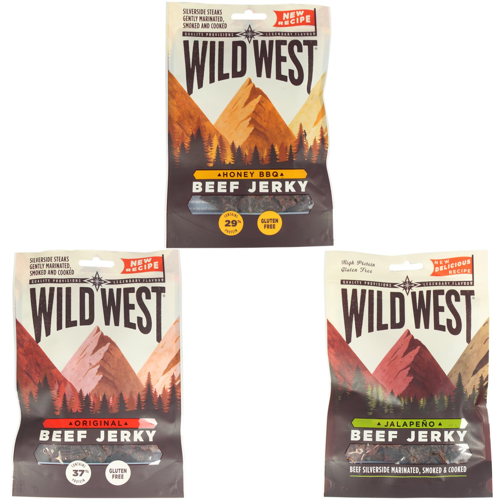 Wild-West-Beef-Jerky-All-Flavours-Mixed-Packs-Gluten-Free-High-Protein-Snack miniatura 13