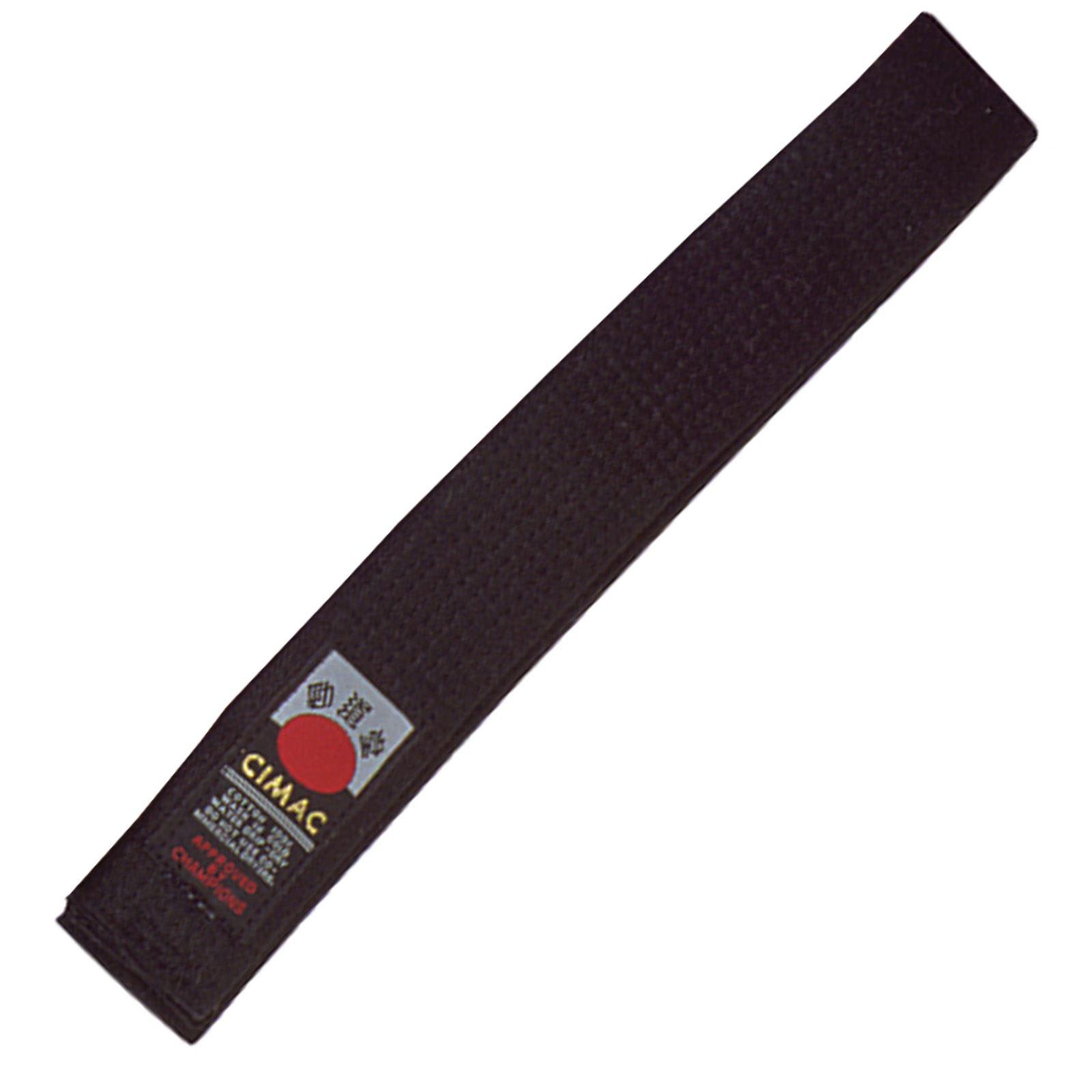 Cimac-Judo-Karate-Taekwondo-Plain-Coloured-Martial-Arts-Belt-UniformVarious-Size thumbnail 3