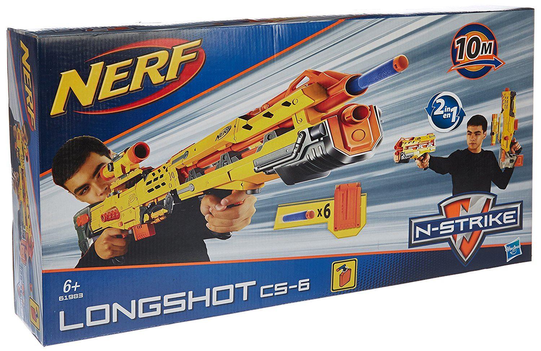 NERF-N-Strike-Scatter-Strike-Blaster-Sniper-Dart-Gun-Longshot-Water-Guns