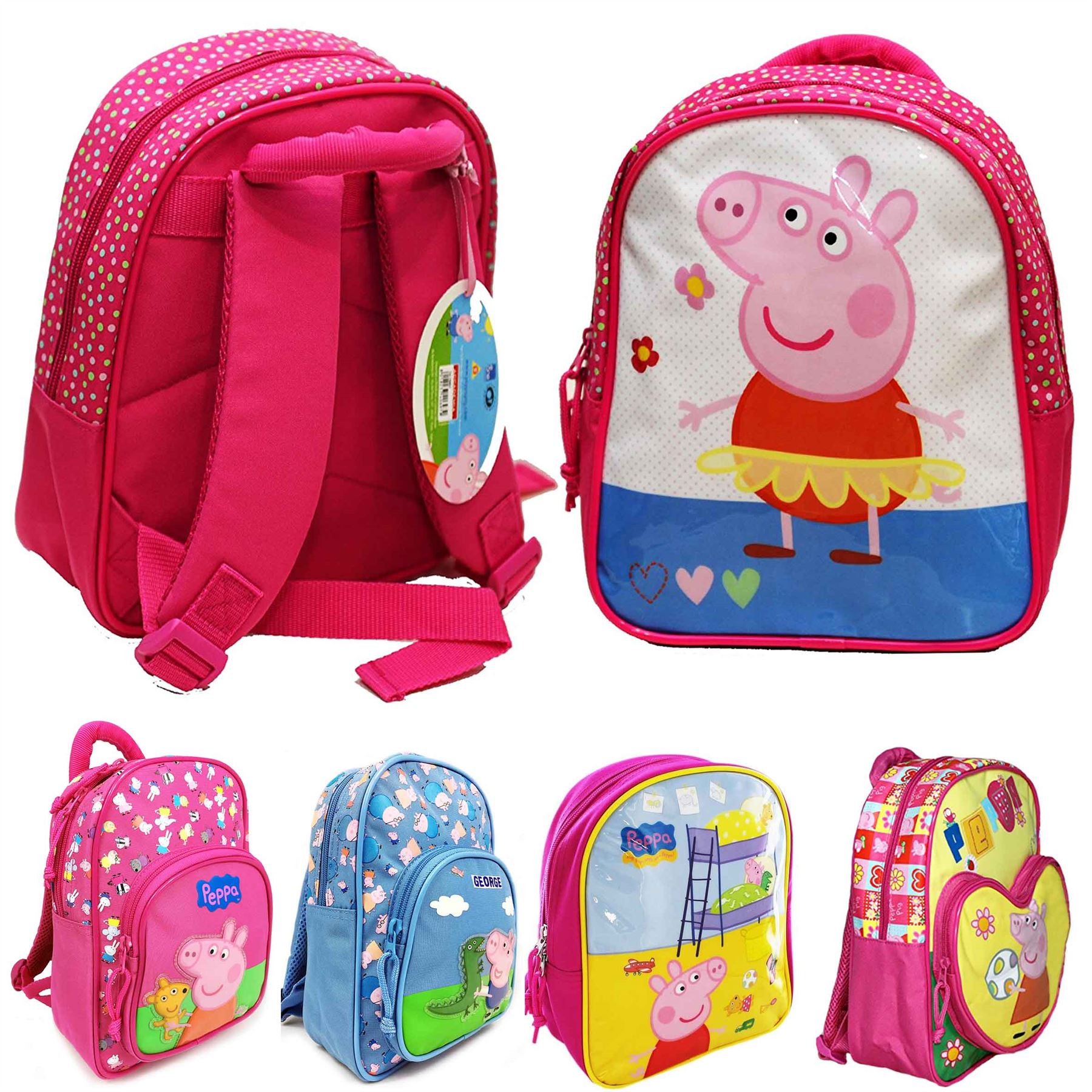 Image is loading Accademia-PEPPA-PIG-3D-PREMIUM-Kids-Backpack-Children- 8c1769fd1660c