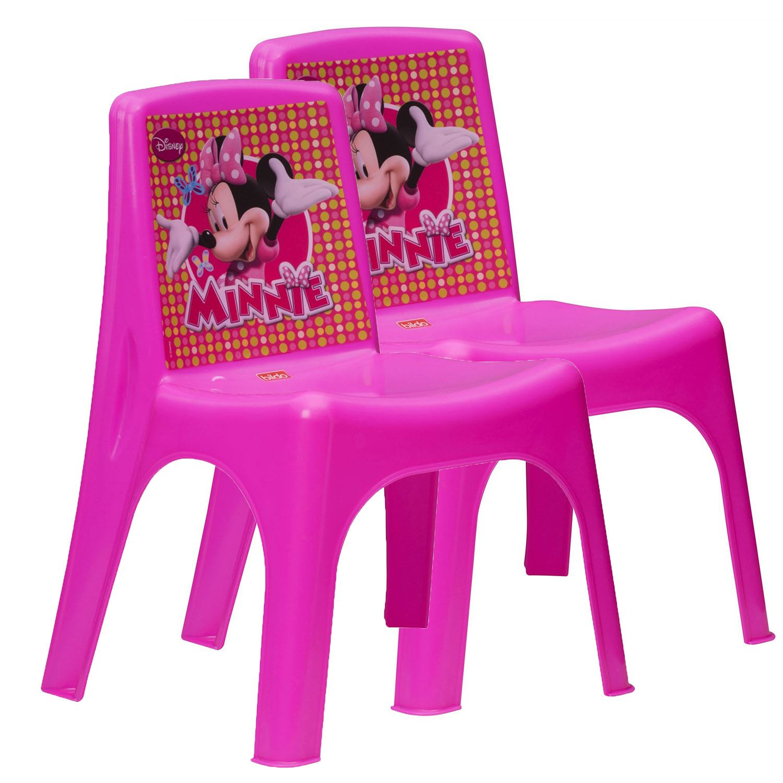 Disney Minnie Mouse Childrens Girls Pink Plastic Playroom