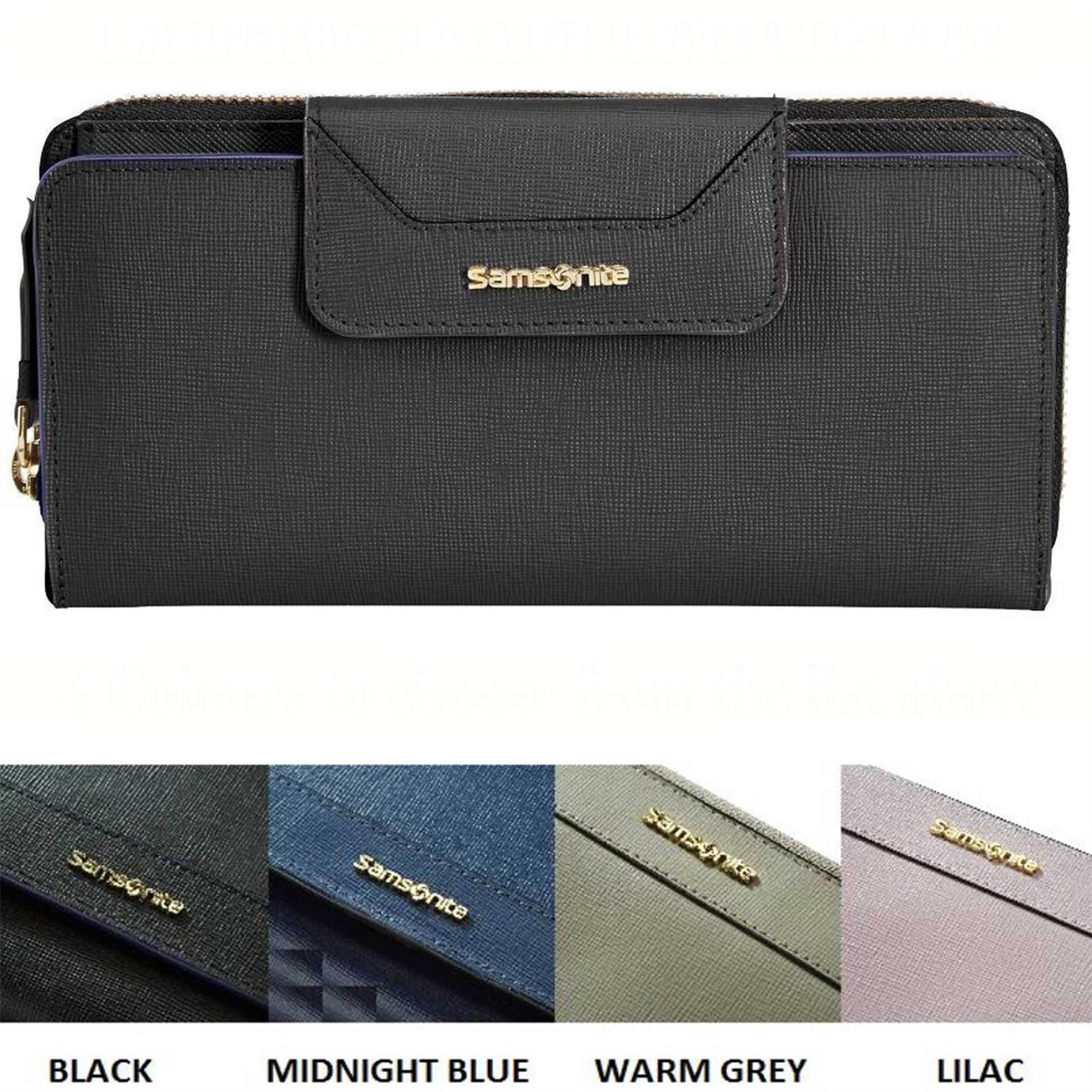 SAMSONITE LADY SAFFIANO GENUINE NAPPA LEATHER WALLET PURSE ...