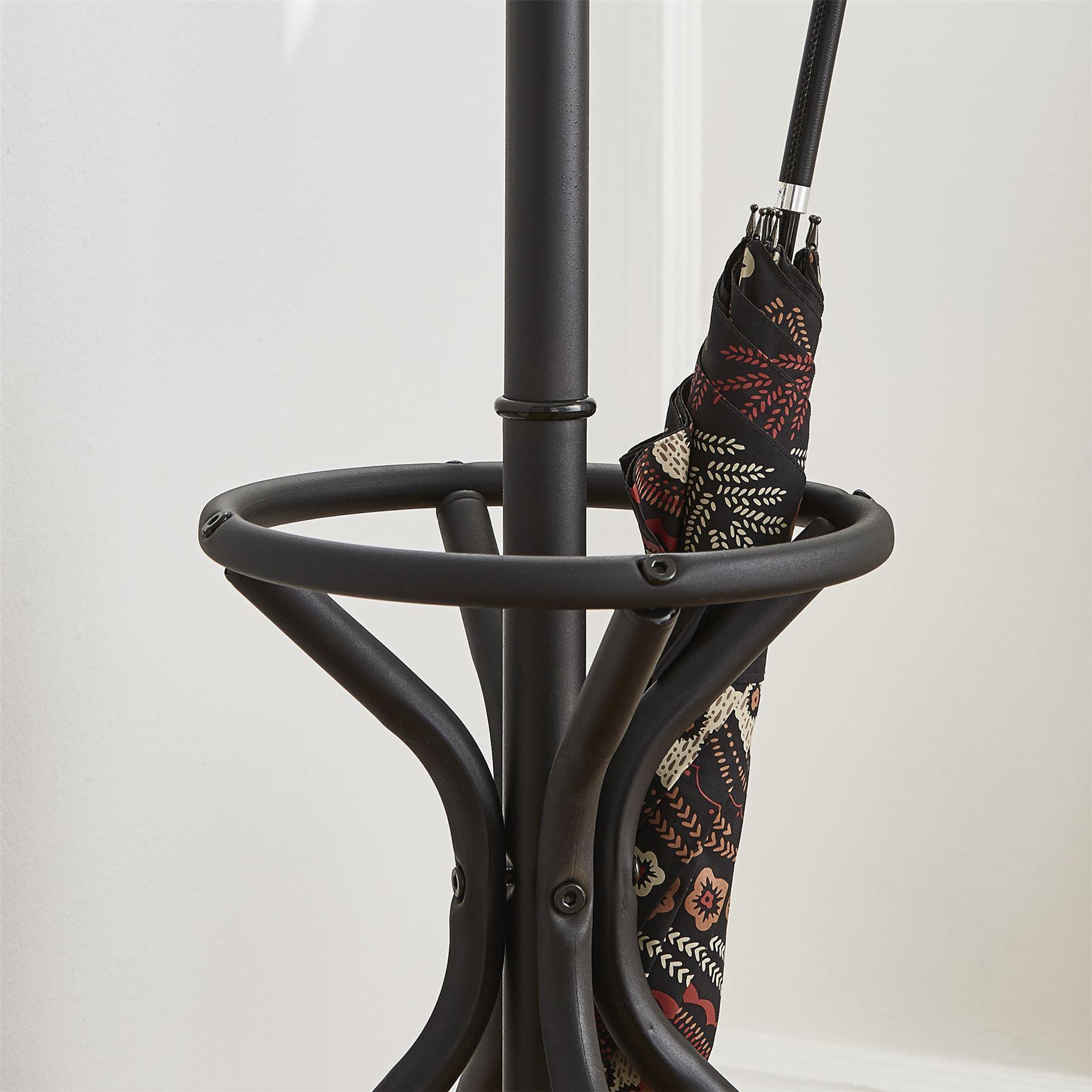 Umbrella Stand Definition: Vintage Style Black Metal Hat Coat Stand Umbrella Hook