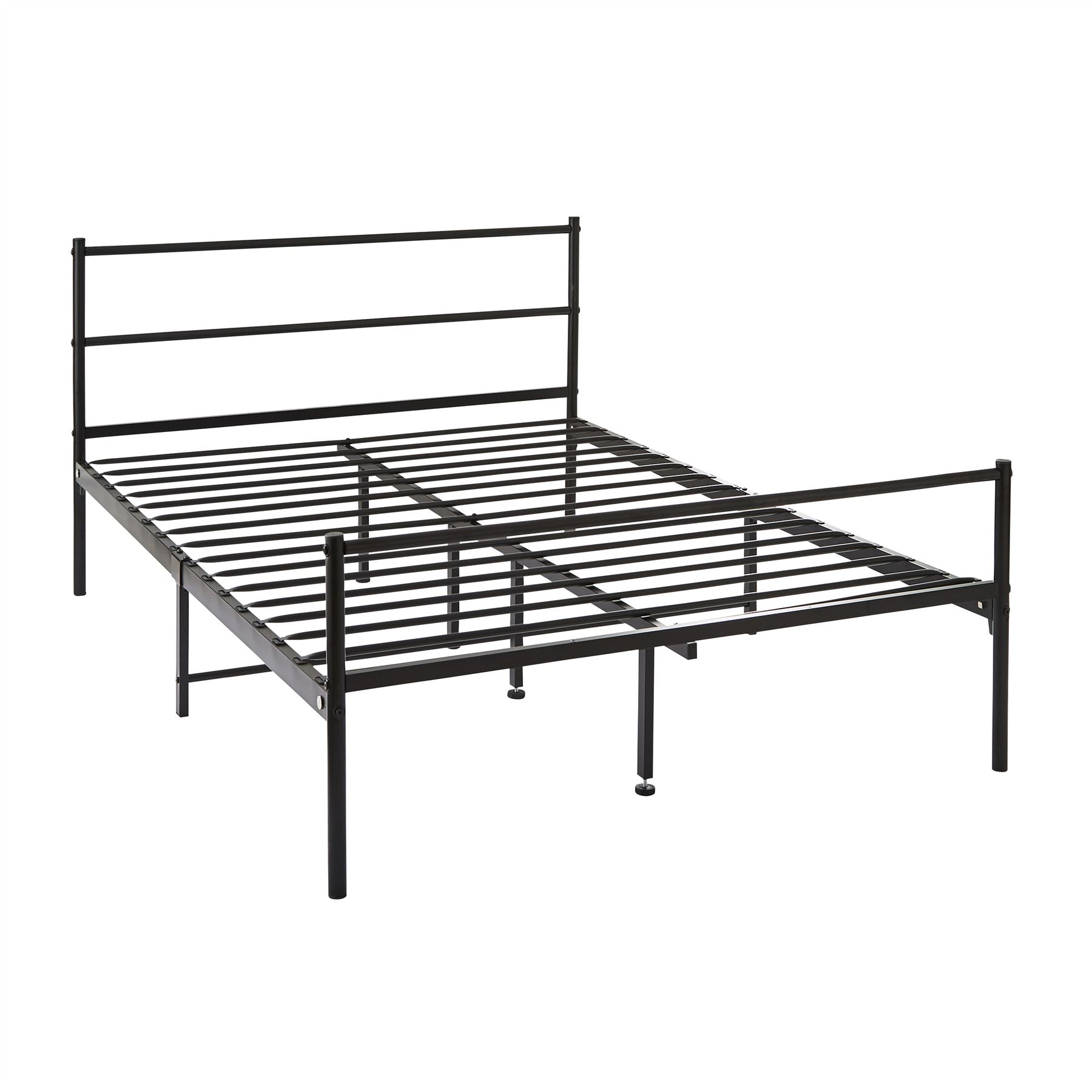 Groovy 4Ft6 Double Metal Bed Frame In Black Strong Bedroom Onthecornerstone Fun Painted Chair Ideas Images Onthecornerstoneorg