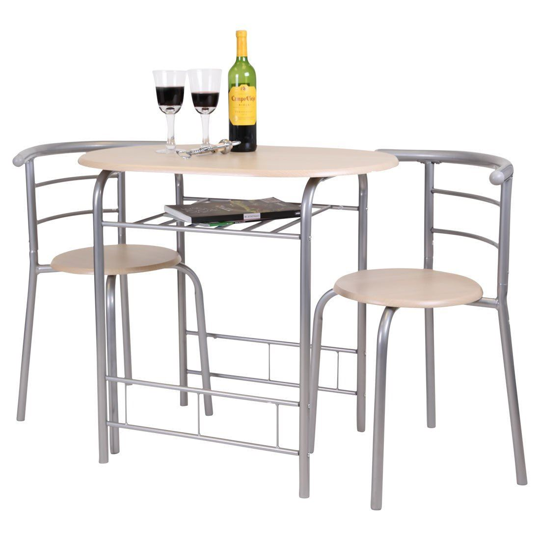 Breakfast Bar Table 2 Chairs Stools Set Dining Room