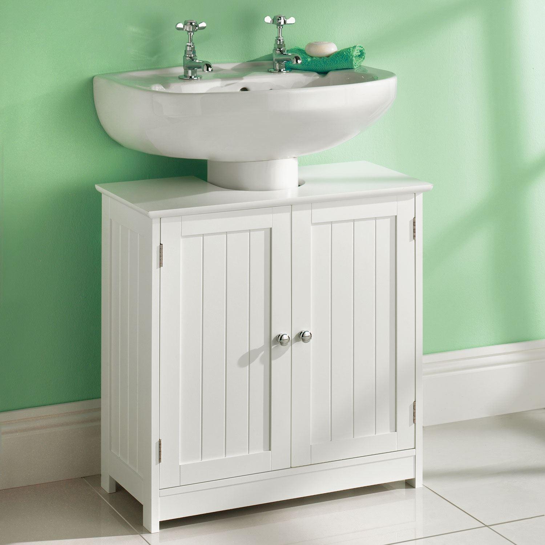 Bathroom Cabinet Single Double Door Wall Mounted Tallboy Cupboard ...