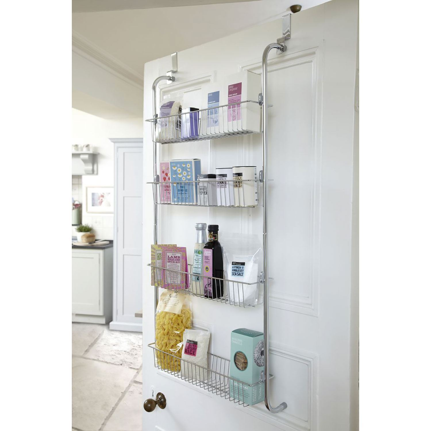 3 4 Tier Over Door Hanging Food Cupboard