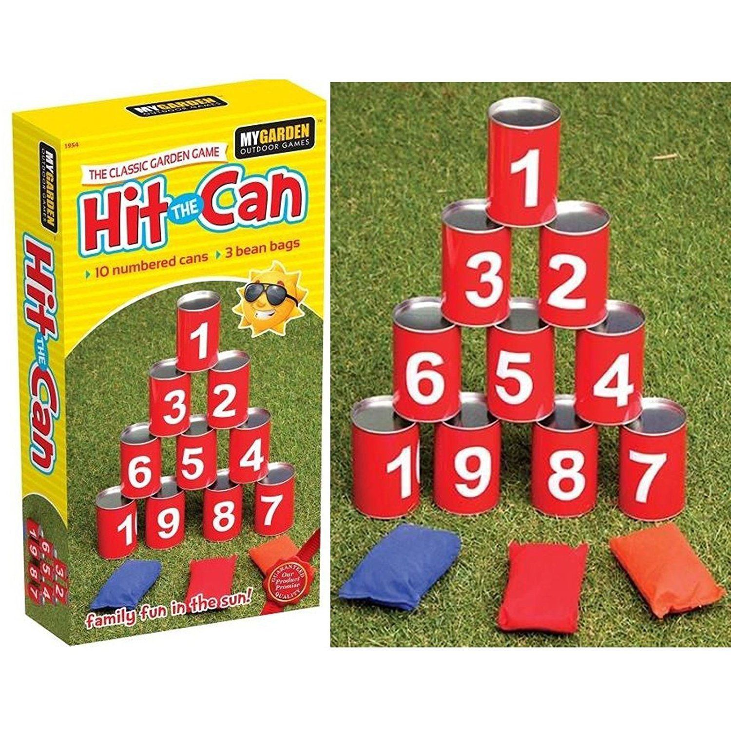 Hit The Tin Can Garden Family Kids Outdoor Indoor Game 10 Tins 3