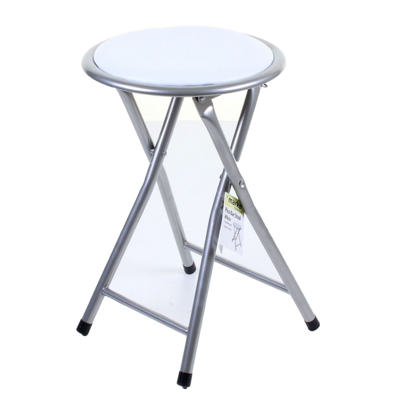 Round Folding Padded Stool Foldable Chair Small Breakfast Fold Up