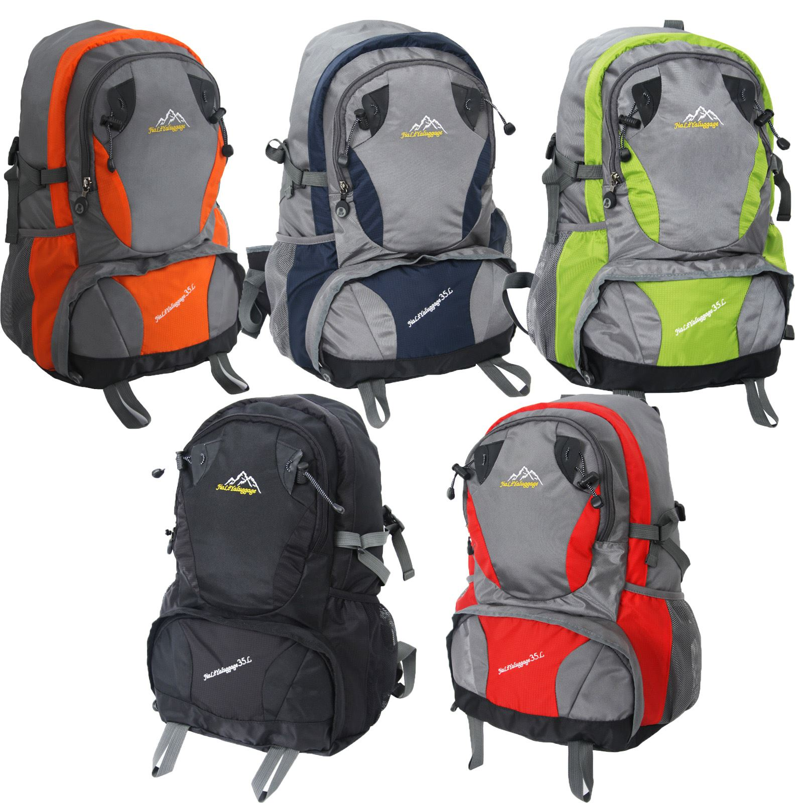 Image is loading 35L-Waterproof-Camping-Hiking-Backpack-Outdoor-Sport -Travel- 5c1351ec7c