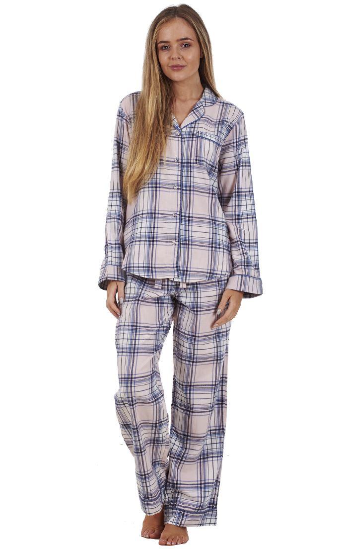 Sentinel Ladies Pure Cotton Flannel Button Front Pyjama Set PJ S Winceyette  Nightwear 714a615bf