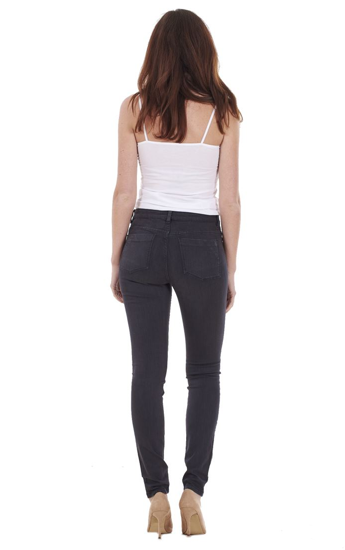 Ladies-Quality-Skinny-Jeans-Womens-Slim-Fit-Denim-Stretch miniatura 3