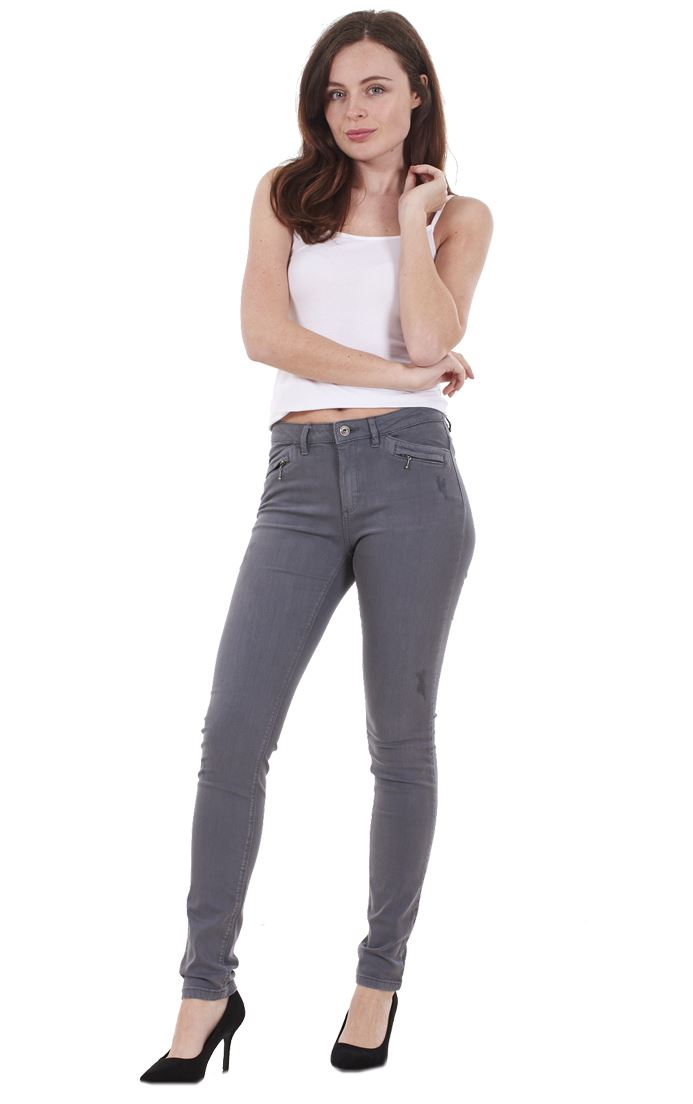 Ladies-Quality-Skinny-Jeans-Womens-Slim-Fit-Denim-Stretch miniatura 19