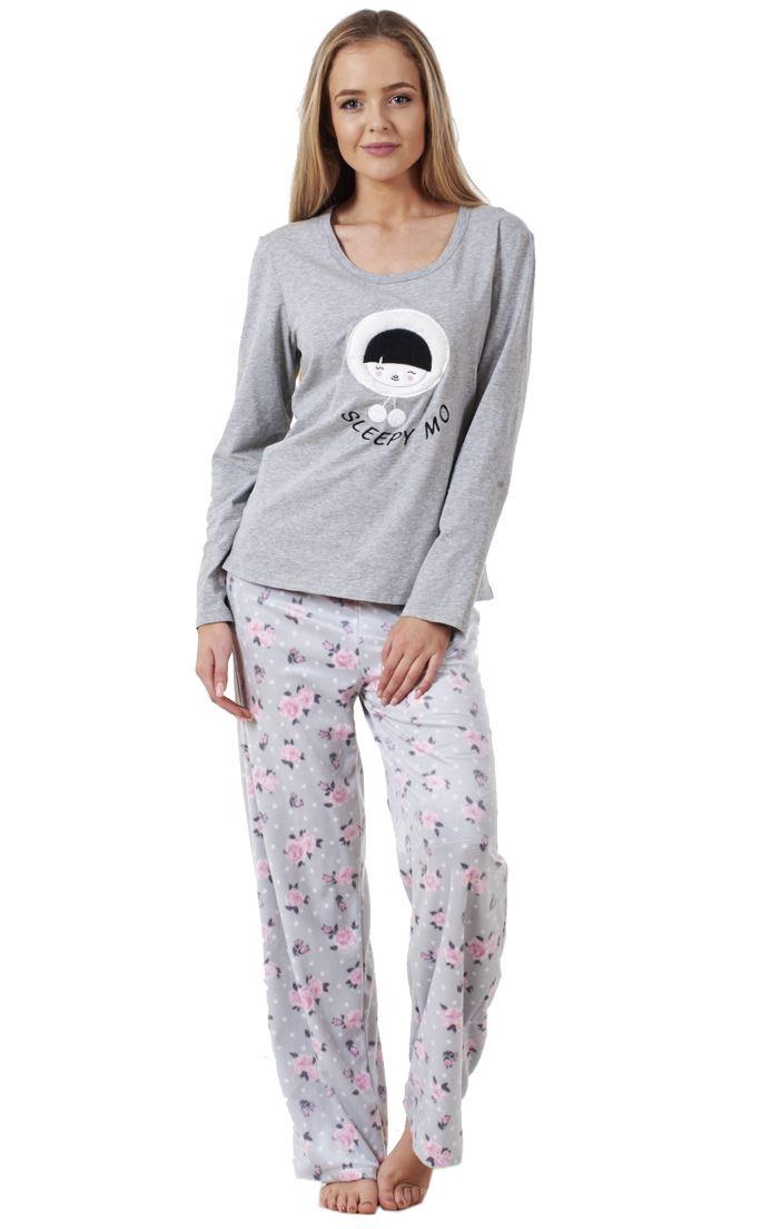b897a35a56a9 Sentinel Ladies Pyjama Set Fleece Winter Warm Long Sleeve Womens Nightwear  PJ S