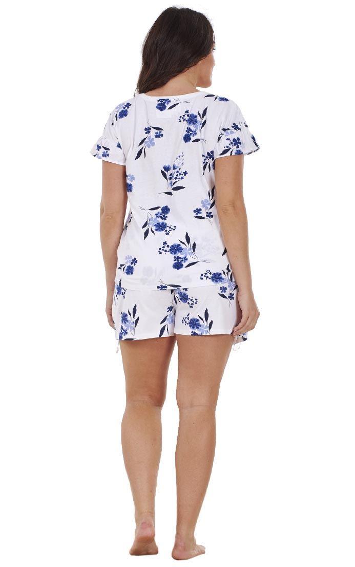 ada9735b265 Ladies Plus Size Floral Print Lace Curve PJ T Shirt Shorts Vest ...
