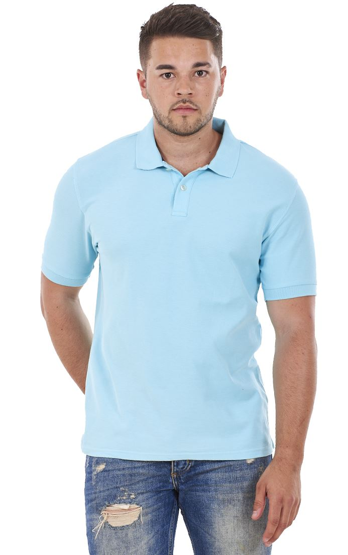 Men-039-s-ex-faMouS-store-Pure-Cotton-Plain-Top-Short-Sleeve-Polo-Tee-T-Shirt thumbnail 85
