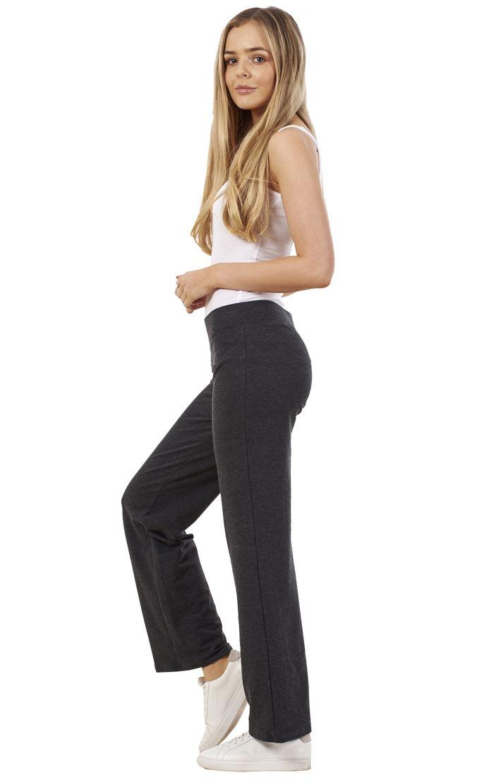 Ladies-Cotton-Stretch-Tracksuit-Bottoms-Sports-Gym-Straight-Leg-Joggers-Pants thumbnail 29
