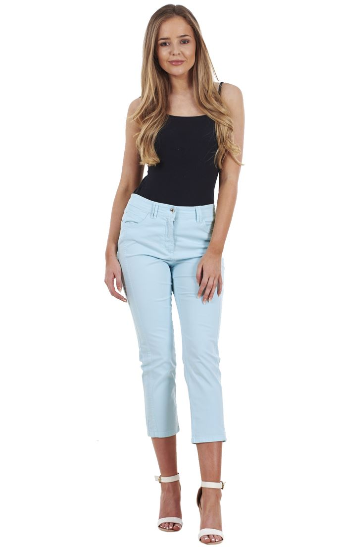 Ladies Quality Cropped Capri 3//4 Summer Holiday Crop Trousers