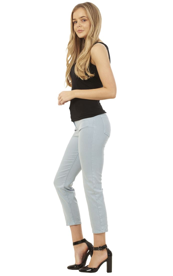 Soft Touch Straight Crop Jeans Women/'s Cropped Jeans