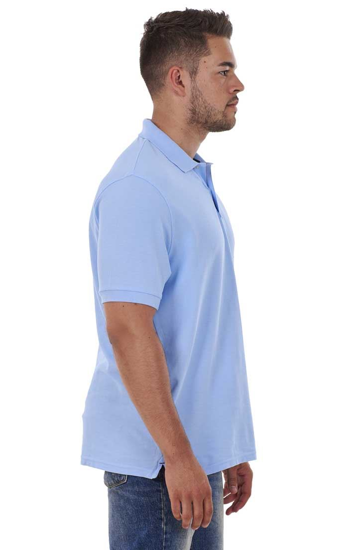 Men-039-s-ex-faMouS-store-Pure-Cotton-Plain-Top-Short-Sleeve-Polo-Tee-T-Shirt thumbnail 57