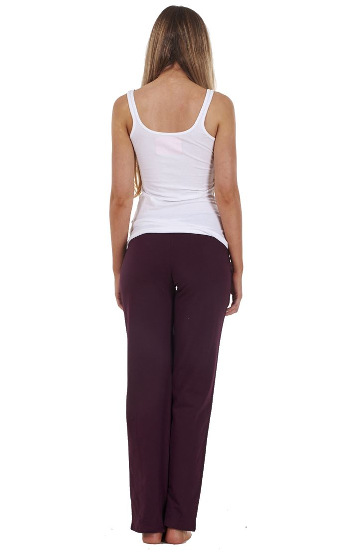 Ladies-Cotton-Stretch-Tracksuit-Bottoms-Sports-Gym-Straight-Leg-Joggers-Pants