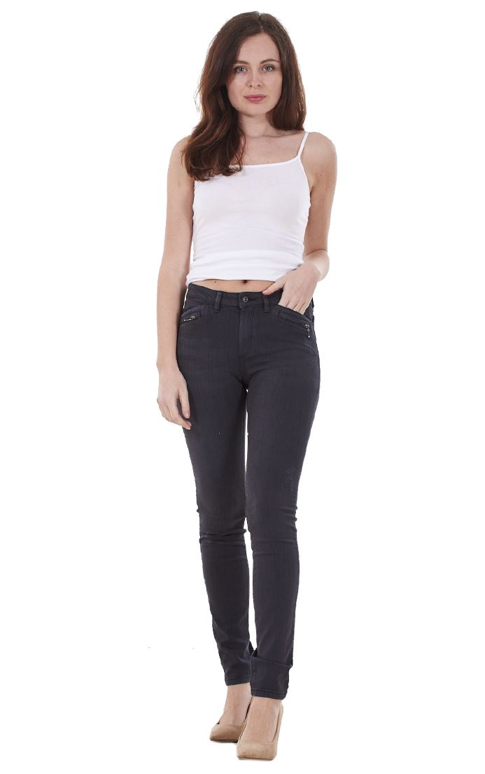 Ladies-Quality-Skinny-Jeans-Womens-Slim-Fit-Denim-Stretch miniatura 11