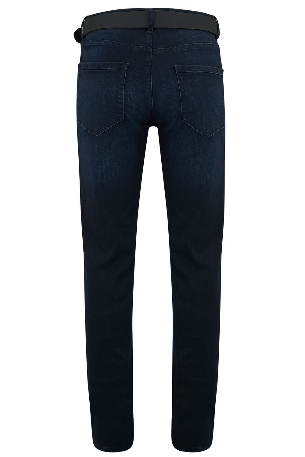 Mens-Indigo-Stretch-Cotton-Denim-Pants-Regular-Fit-Slim-Fit-Jeans