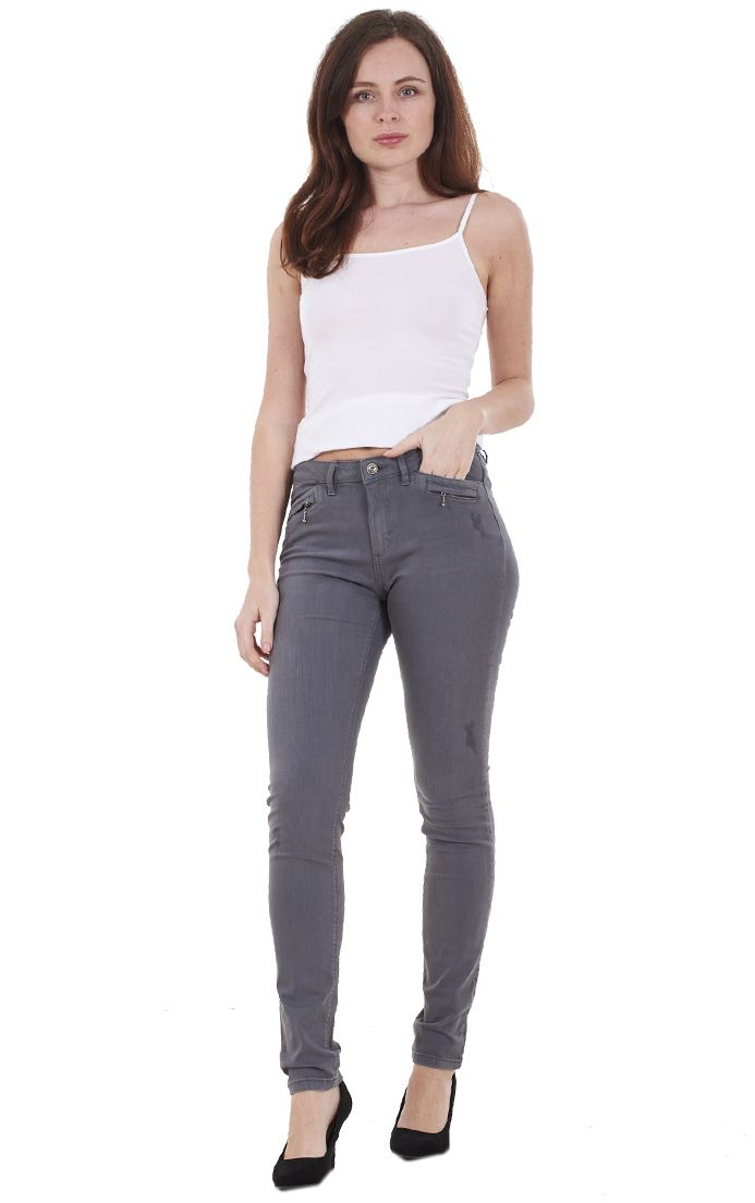 Ladies-Quality-Skinny-Jeans-Womens-Slim-Fit-Denim-Stretch miniatura 18