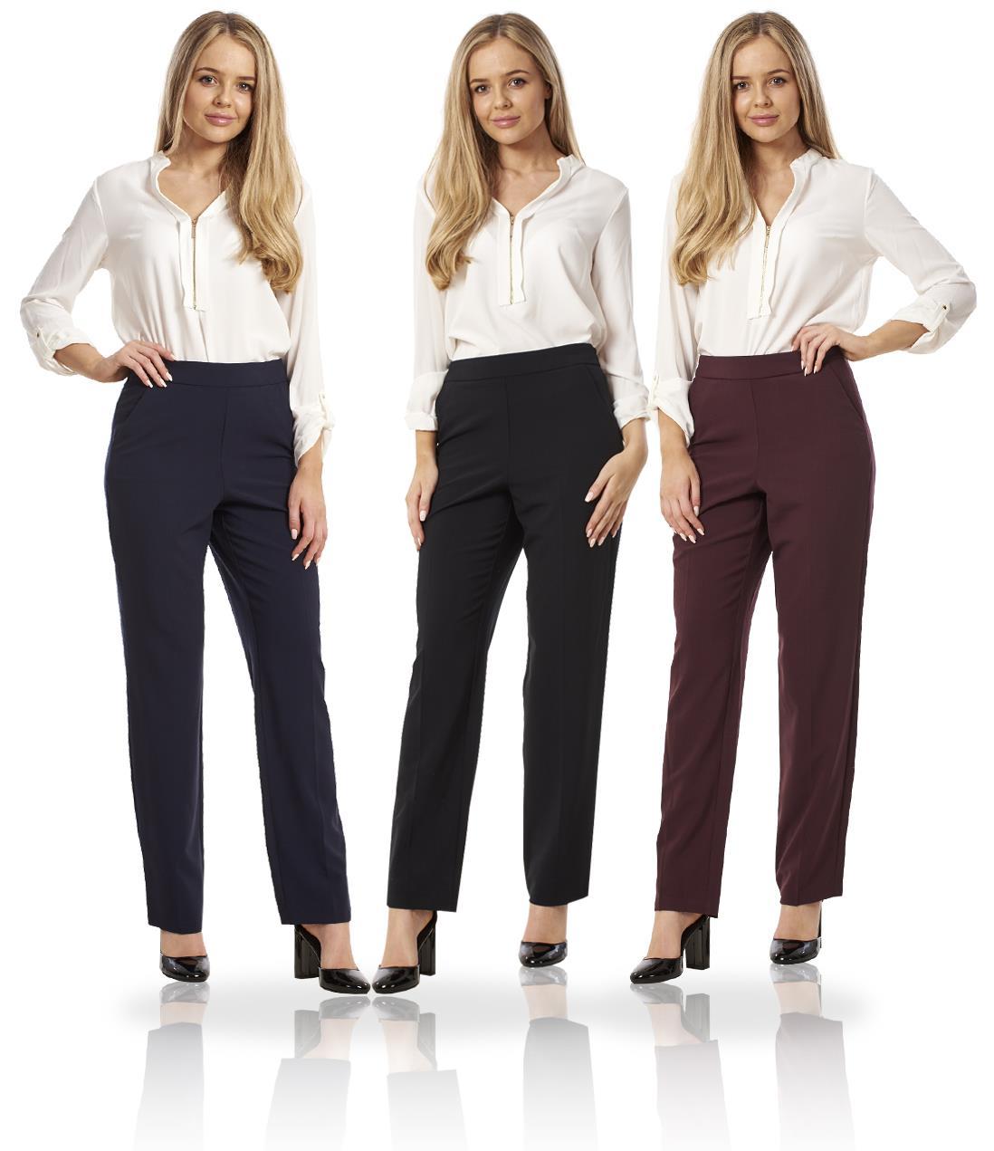 Ladies Formal Elasticated Smart Trouser